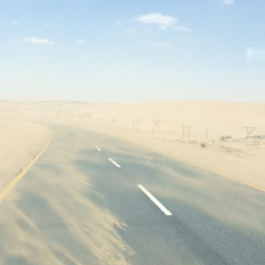 Sandsturm bei den Dünnen Sossusvlei