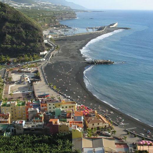 Tazacorte Strand und kleine Restaurants