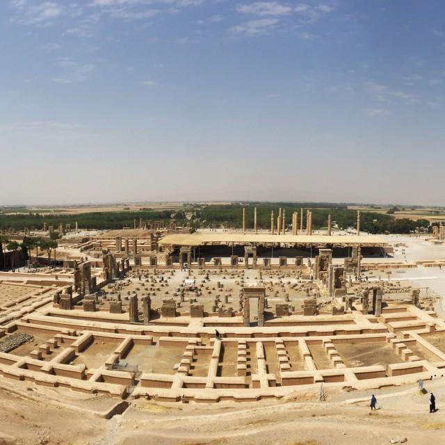 Die Aussicht über das UNESCO Weltkulturerbe Persepolis