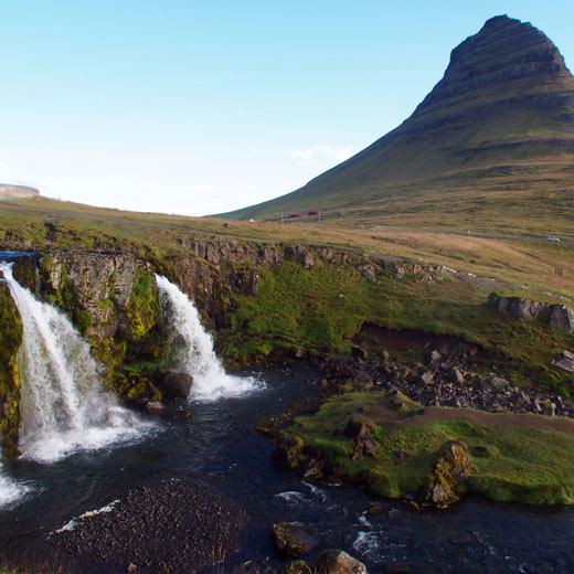 Kalfárvellir-Wasserfall