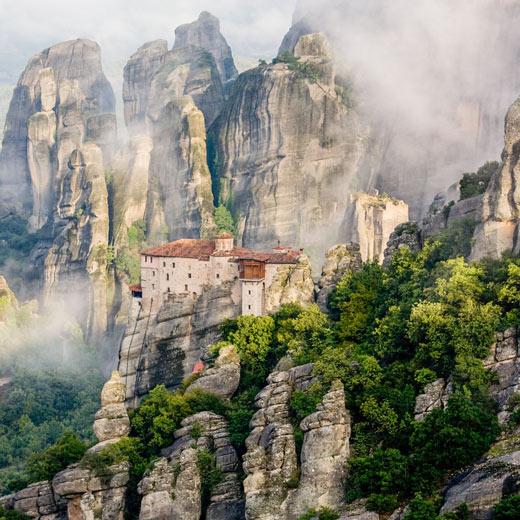 Die faszinierende Gebirge in Meteora