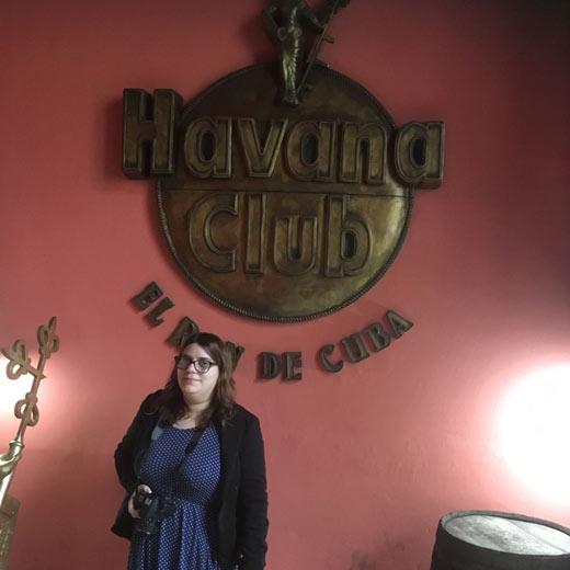 Me voici au musée du rhum (Havana Club)