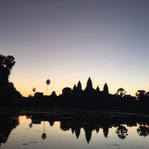 Sonnenaufgang beim Angkor Wat