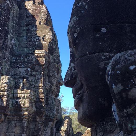Tempelruine in der Angkor Wat Tempelanlage.