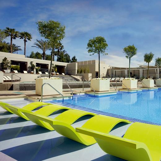 Die Poolanlage vom MGM Grand Hotel in Las Vegas