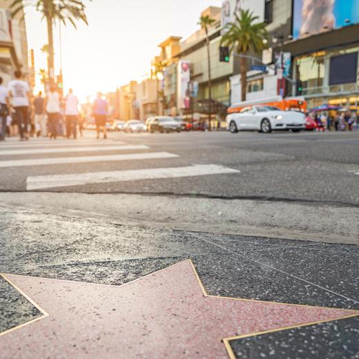 Der bekannte Walk of Fame