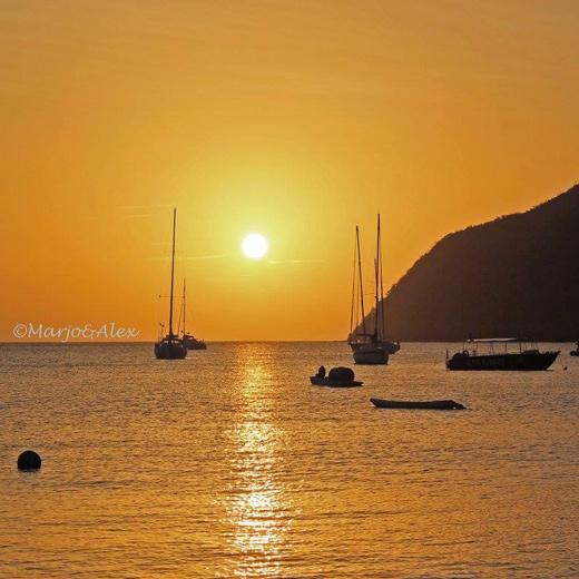 Sonnenuntergang über dem Morne Larcher