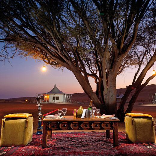 Das Desert Nights Camp welches mitten in der Wüste ist