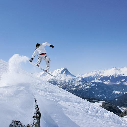 Ein wahres Wintersportparadis für Snowboarder