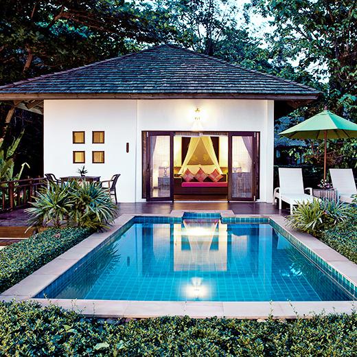 Hier eine Deluxe Pool Villa des Glow Elixir Koh Yao Yai Hotel