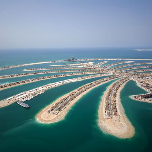 Die berühmte Palme Dubais