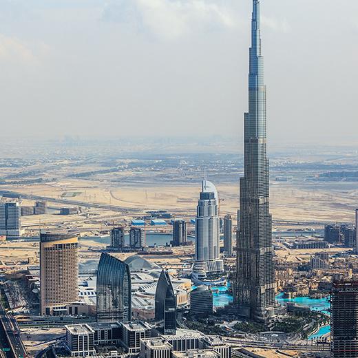 Die Aussicht auf den Burj Khalifa