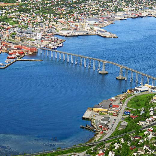 Die Sicht auf Tromsø