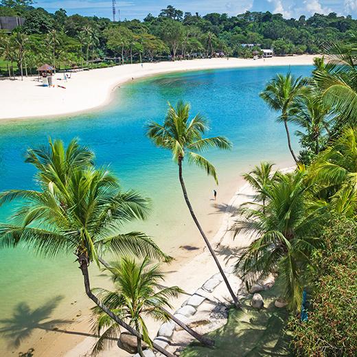 Der Palawan Beach auf Sentosa Island