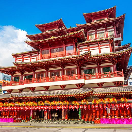 Ein Tempel im Chinatown
