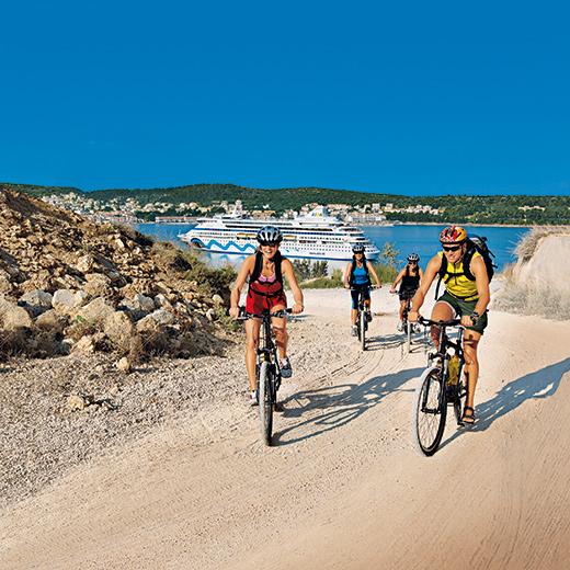 Excursions à vélo sur le continent