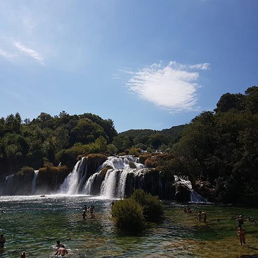 Die vielen Wasserfälle im Nationalpark Krka
