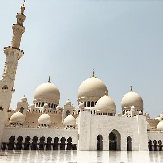 La plus grande mosquée des Emirats Arabes Unis est  Sheikh Zayed