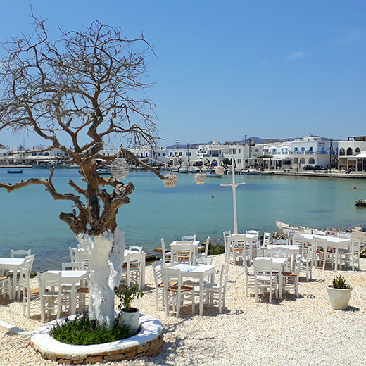 Das Restaurant Pantelis Taverna liegt direkt am Strand