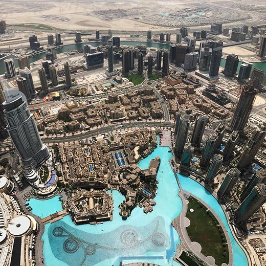 La belle vue ud Burj Khalifa