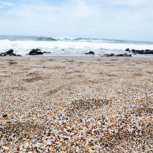 Glass Sand Beach auf Kauai