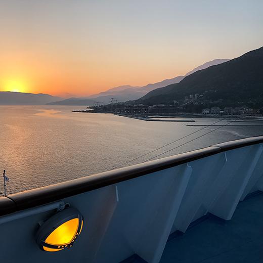 Wunderschöne Aussicht vom Schiff auf der letzten Country Music Cruise