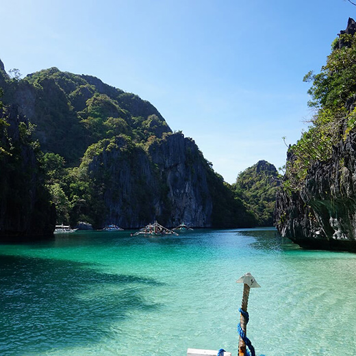 Die Secret Lagoon in El Nido.
