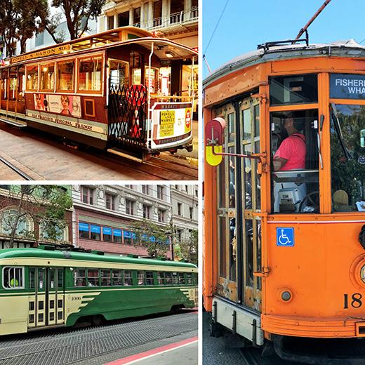 Eine Augenweide: An den wunderschönen alten Cable- und Streetcars kann man sich fast nicht satt sehen!
