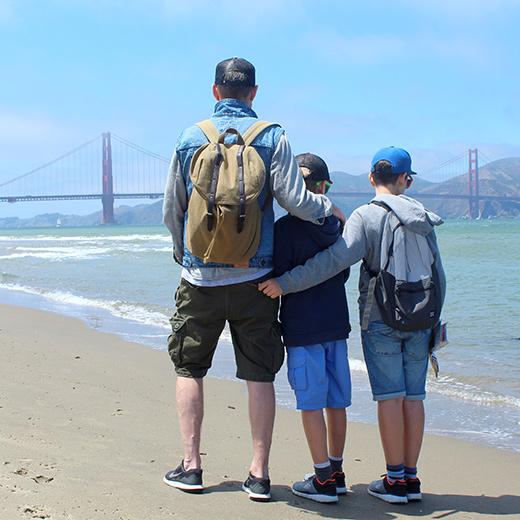 Was für ein Anblick: Die Golden Gate Bridge von Crissy Fields aus betrachtet