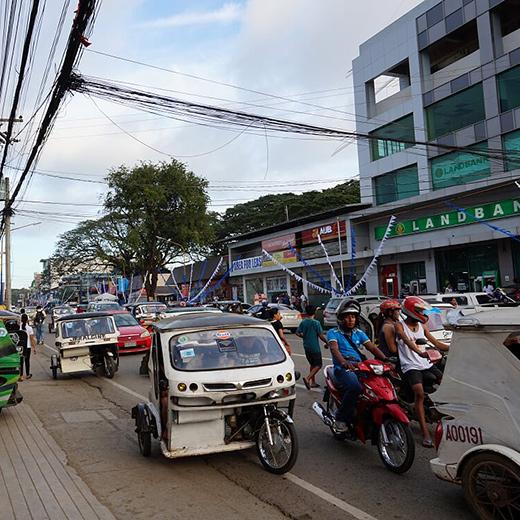 Das rege Treiben auf den Strassen Puerto Princesas