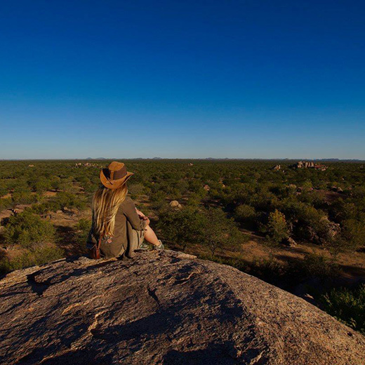 In Namibia habe ich die Weite und die wunderschöne Aussicht genossen