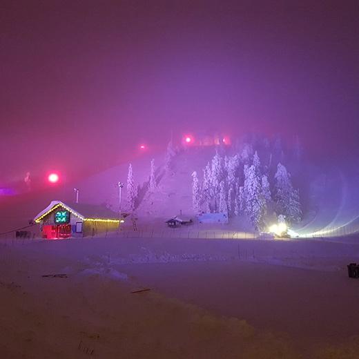 Ruka bei Nacht
