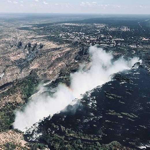 Der Helikopterflug über die Victoriafalls war spektakulär!