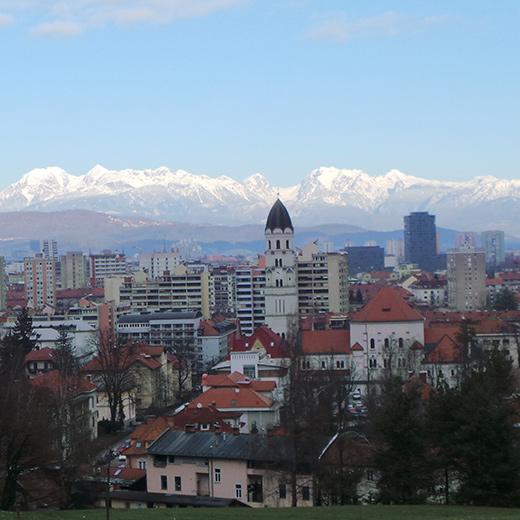 Die schöne Aussicht über die Stadt von der Burg