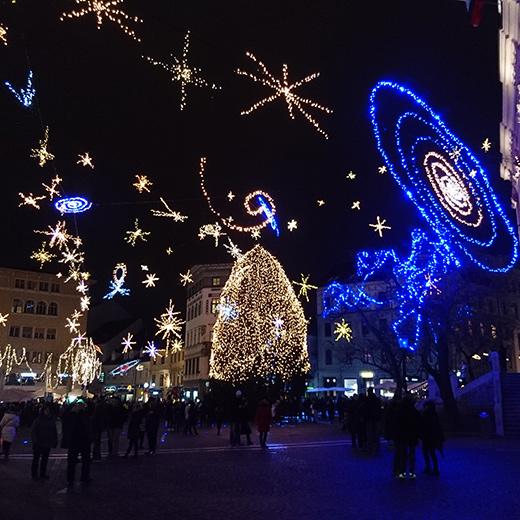 Die Weihnachtsbeleuchtung