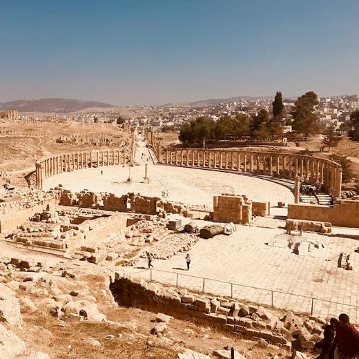 Die Aussicht von Jerash