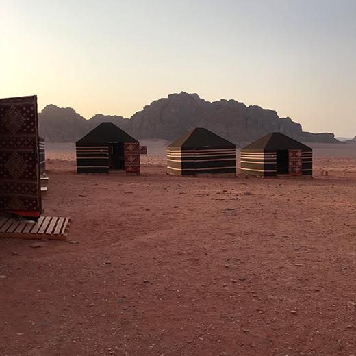In der Wüste Wadi Rum