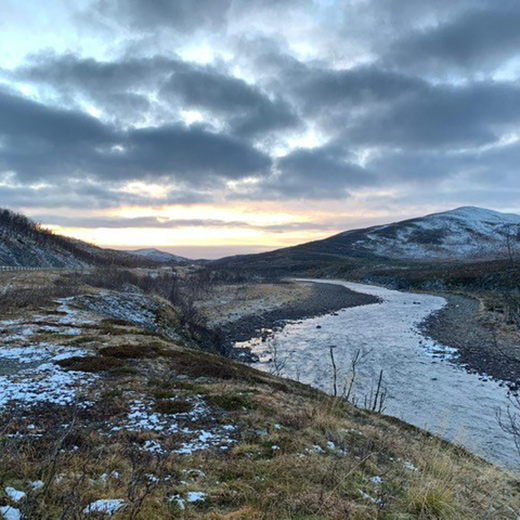 Die schöne Landschaft in Nordnorwegen