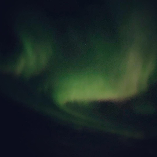 Die schönen Nordlichter in Tromsø