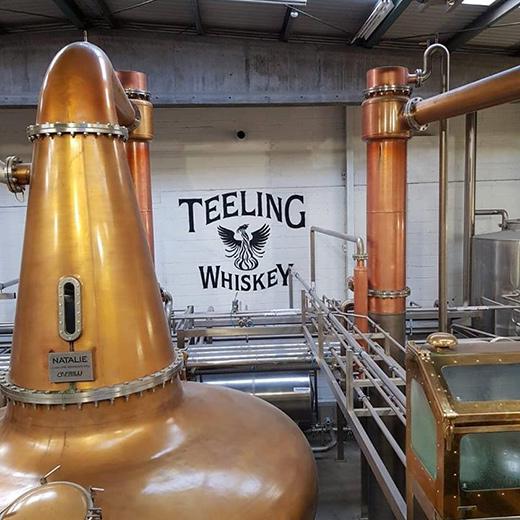 Teeling Whiskey während der Herstellung